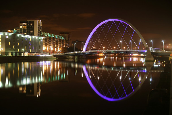 "The ""Squinty"" bridge on the River Clyde in Glasgow. 03-10-2010"